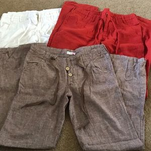3 pair of Linen Pants